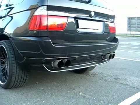 My new BMW X5 E53 Sport Exhaust