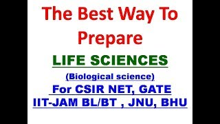 how to prepare NET LIFE SCIENCE and Biological science