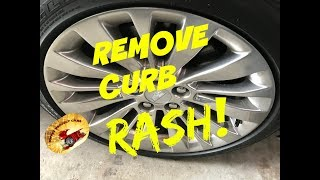 How To Remove Wheel CURB RASH...Fast!