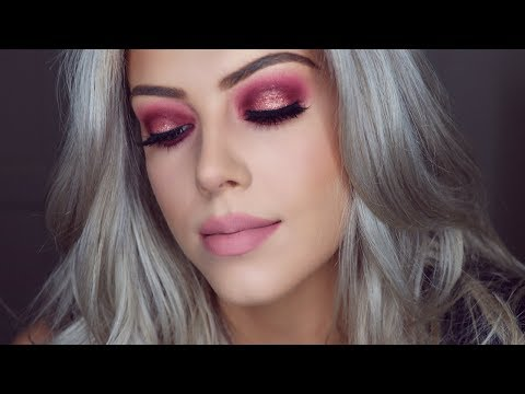 Rose Gold Glitter Smokey Eye   Huda Beauty Eyeshadow Palette   Chloe Boucher