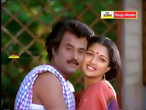 Rajnikanth Argues With Kavai Sarala Comedy Scene - Raja Chinna Roja Telugu Movie video
