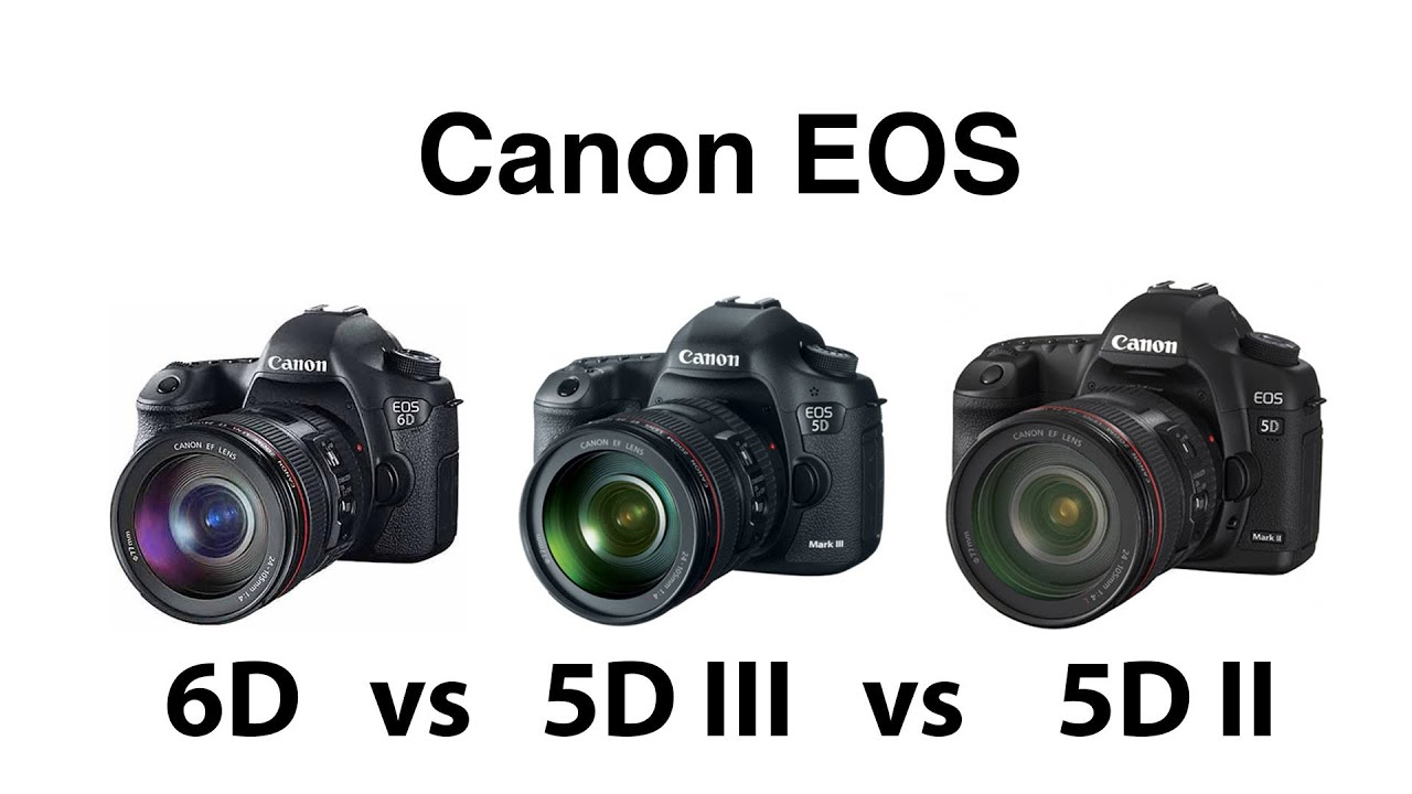 canon eos 6d vs 5d iii vs 5d ii comparison youtube. Black Bedroom Furniture Sets. Home Design Ideas