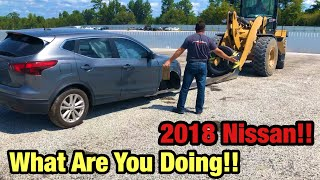 Forklift Driver Damages My New Salvage auction car! Rebuild For My Sister!