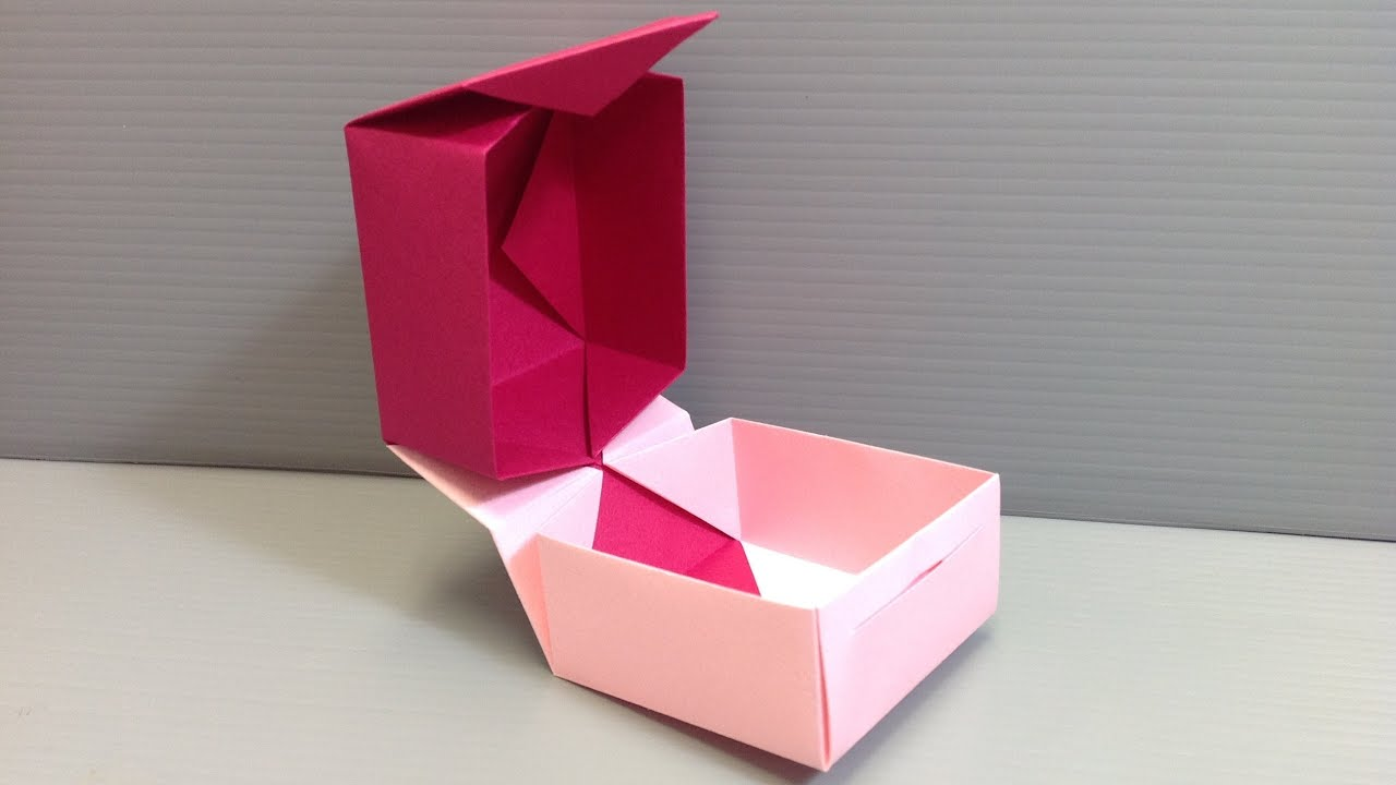 Origami Box With Hinged Lid