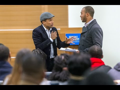 Actor Hill Harper challenges students to take a risk, have a plan.
