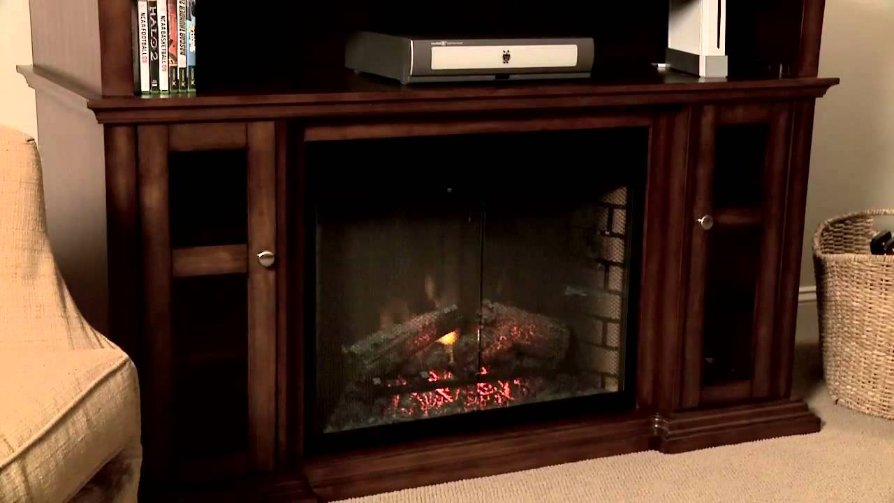 Pasadena Electric Fireplace Media Console Youtube
