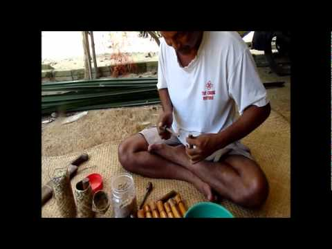 Wood & bamboo fire pistons. demo by maker