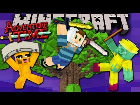 Minecraft: Adventure Time Trapped in Twilight Forest New Treehouse Episode 1