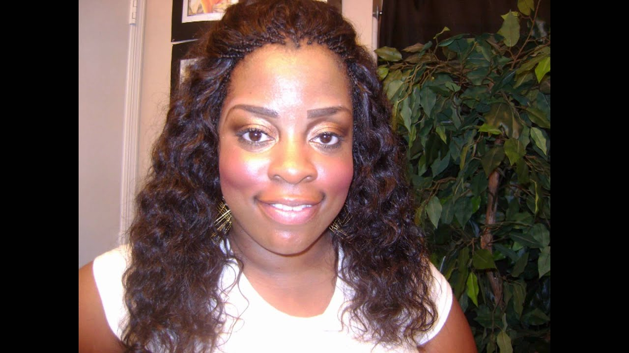 JuJu Virgin Indian Curly Hair Sew-in/invisible braids - YouTube