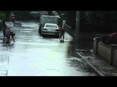 Torrential Rain & Flashflood, Glasnevin, Dublin