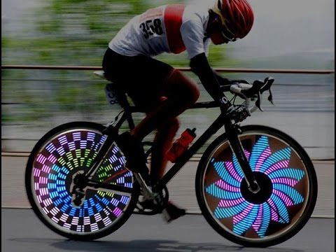Colorful Rainbow Wheel Signal Lights LED bike wheel light LED Bike Spoke light Freeshipping