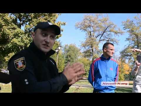"""Видео """"Новости-N"""": Николаевцы спорят с полицейскими из-за техпаспорта """"евробляхи"""""""