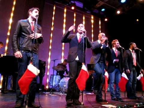 Broadway Boys sing Silent Night at Toys for Tots