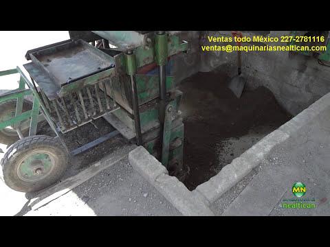 Maquina Bloquera Esmma 1000 Manual Fabricando Tabicón