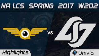 FLY vs CLG Highlights Game 1 NA LCS Spring 2017 W2D1 FlyQuest vs Counter Logic Gaming