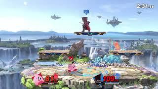 Kirby tech with Mii SwordFighter's Tornado