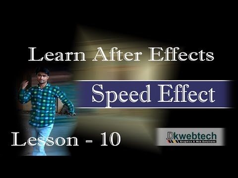 After Effects Beginners Tutorials I Speed Effect I in Hindi #10