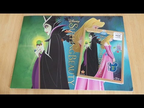 Disney Sleeping Beauty Blu-Ray | DVD | Digital Copy with Lithographs Unboxing & Review