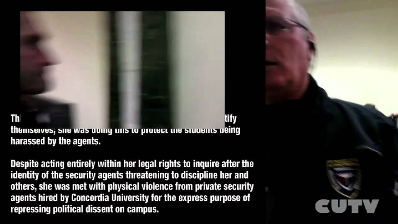 Concordia Security Agent Assaults Student