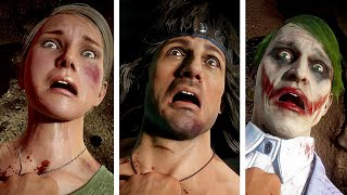 MK 11 All Kombatants Reactions To Rambo Mission Accomplished Victory Pose Mortal Kombat 11