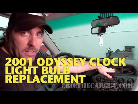 clock light bulb replacement 2001 honda odyssey ericthecarguy youtube. Black Bedroom Furniture Sets. Home Design Ideas