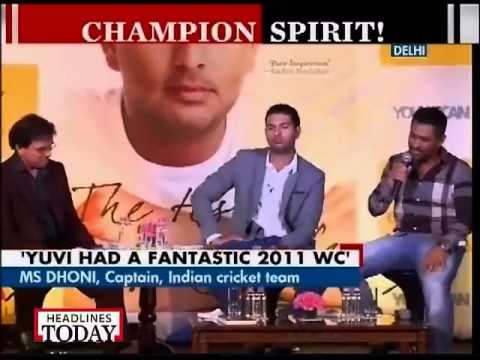 Tendulkar launches Yuvraj Singh's book 'The Test of My Life' in Delhi