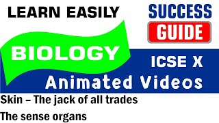 ICSE IX BIOLOGY Skin – The jack of all trades-1-  the sense organs by Success Guide