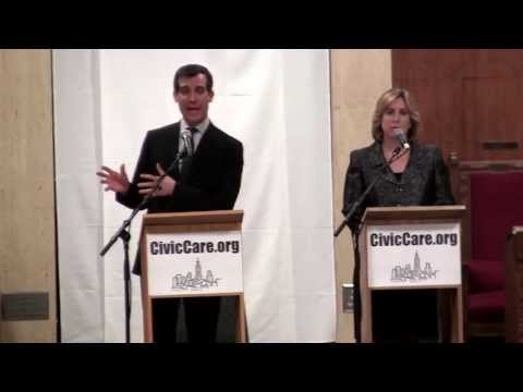 L.A. Mayoral Debate Eric Garcetti and Wendy Greuel- original video 1/3/13 (Part 1 of 7)