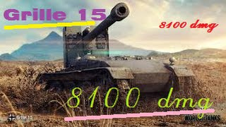 World of tanks blitz Grille 15 - 8.1K Damage