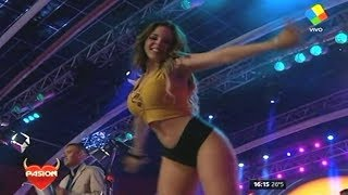 (MV) BDP Bailarinas de pasion - Black Shorts & Yellow Top 08 04 17