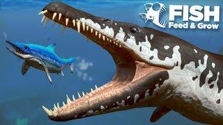 NEW KRONOSAUR EATS THE MOSASAUR!!! - Fish Feed Grow