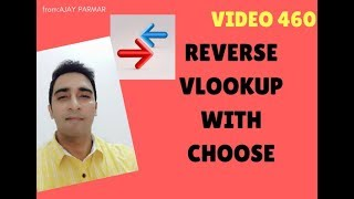 Learn MS Excel -Video 461- How to use Vlookup in reverse direction