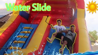 SUMMER TIME WATERSLIDE FUN!
