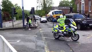 Special Escort Group for blacked out Land Rover in Sheffield