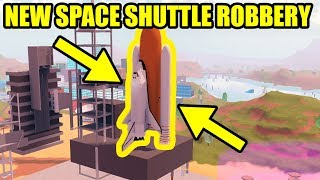 Playing the NEW SPACE SHUTTLE UPDATE EARLY!!! Roblox Jailbreak