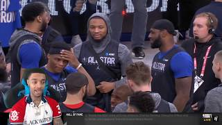 FlightReacts Team LeBron & Team Giannis - Half Court Shots Contest - 2020 NBA All-Star Practice
