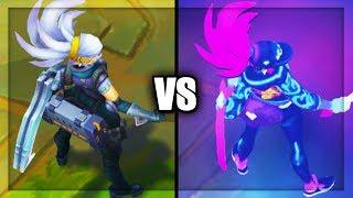 Neon KDA Akali vs Silverfang Akali Skins Comparison (League of Legends)