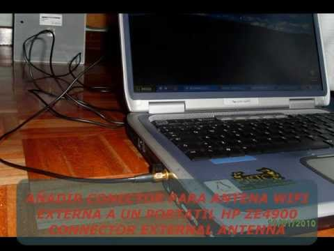 Mod external antenna wifi portatil (notebook) HP ZE4900