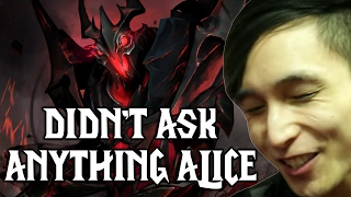 NO ONE ASKED YOU ANYTHING ALICE ◄ SingSing Moments Dota 2 Stream