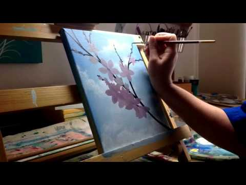 Blossom Time Lapse Painting