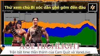 AOE Hightlight || VaneLove và Cam Quýt có tình huống đè vốc time kinh khủng tởm trước BIBI