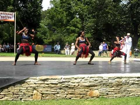 Liberians dancing at the Folk Festival in Cleveland Ohio