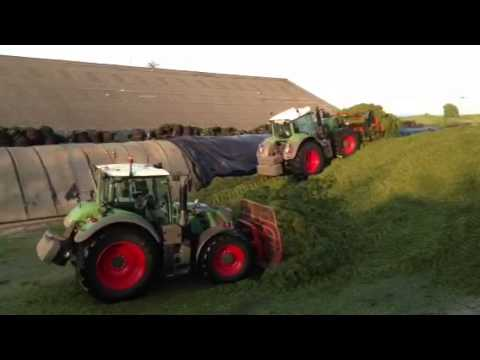 Stewart Trailer Fendt 828 With Stewart Trailer