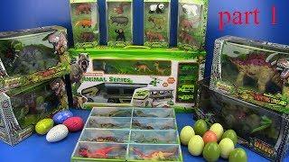 Dinosaurs Toys & dinosaurs eggs-dinosaurs  jurassic world - video for kids !! Part 1
