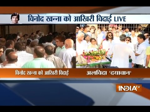 Mumbai: Bollywood mourns Vinod Khanna's demise as his body arrives for funeral thumbnail