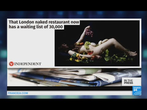 In the Press: Welcome to London's new naked restaurant!