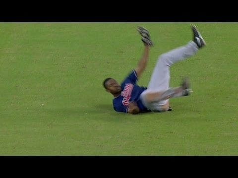Bourn lays out for the beautiful diving grab