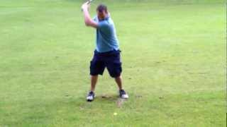 Incredible golf swing / too funny
