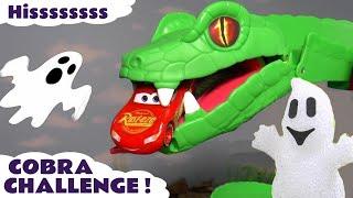 Cars McQueen Spooky Cobra Challenge with Hot Wheels Superhero Cars for kids TT4U