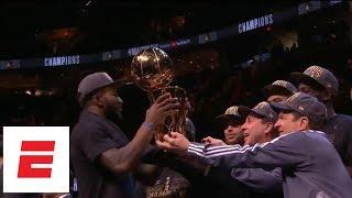 [FULL] Golden State Warriors 2018 NBA Finals trophy presentation   ESPN